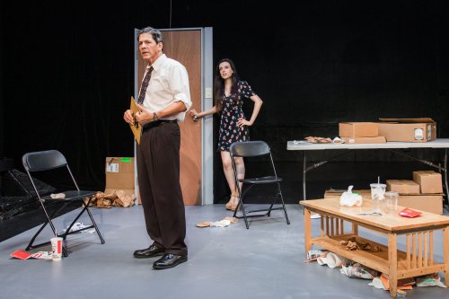 "Lenny Grossman and Francesca Ravera in a scene from David Harrower's ""Blackbird"" at eh New Ohio Space (Photo credit: Bjorn Bolinder)"
