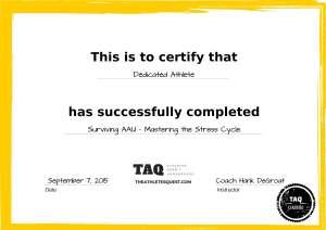 TAQ - Course Cert