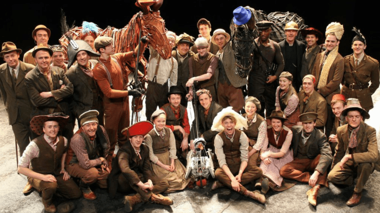 """<div class=""""category-label-news"""">News</div><div class=""""category-label"""">/</div>Joey and the entire cast of War Horse take part in Wear A Hat Day tribute"""