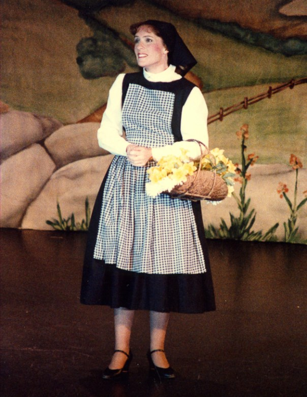 Maria as a postulant in THE SOUND OF MUSIC