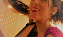 Maud Ardiet, récittal de harpe en EHPAD