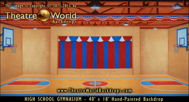 High School Gymnasium Professional Scenic Backdrops