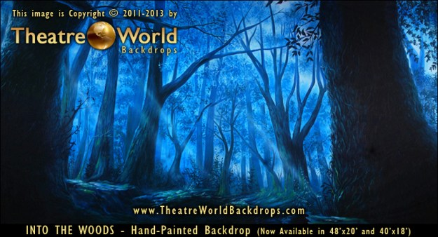 Into The Woods Professional Scenic Backdrop