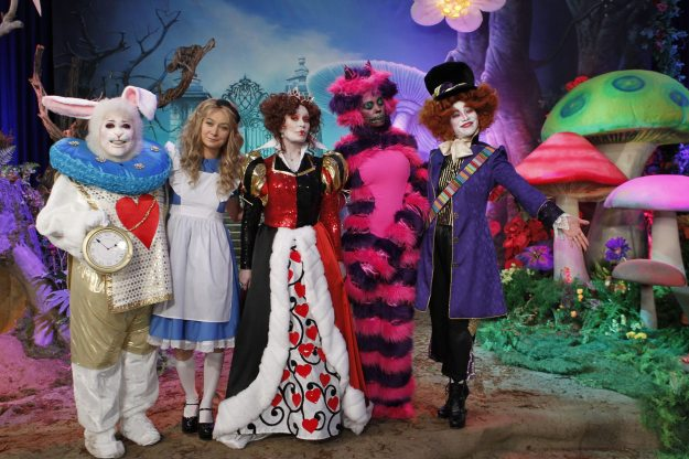Cast of CBS' The Talk with TheatreWorld Professional Scenic Wonderland Gate Backdrop