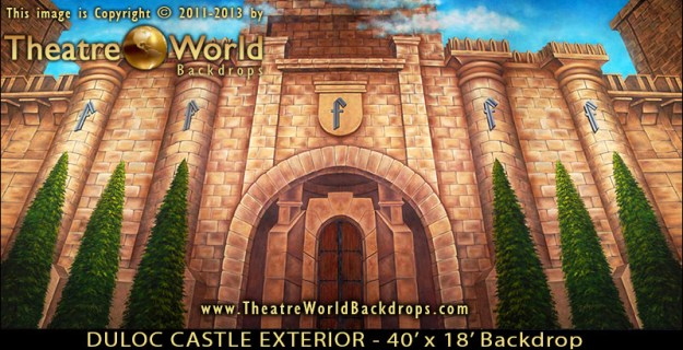 Duloc Castle Exterior Professional Scenic SHREK THE MUSICAL Backdrop