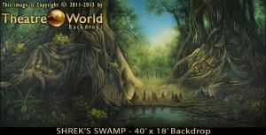 Shrek's Swamp Professional Scenic Backdrop