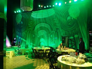 TheatreWorld's Professional Scenic Emerald City Great Hall Backdrop at WIZARD OF OZ 75 Anniversary Party