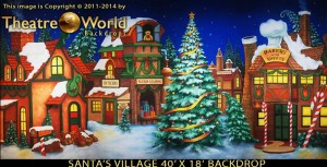 Santa's Village Professional Scenic Backdrop