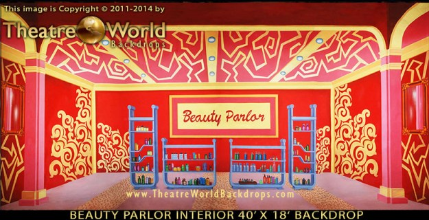 TheatreWorld's Beauty Parlor Interior Professional Scenic Backdrop