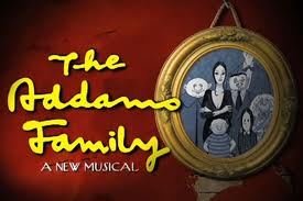 THE ADDAMS FAMILY Logo TheatreWorld Professional Scenic Backdrops