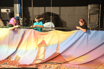 Largo Cultural Center Theatre Camp Students Hang TheatreWorld Professional Scenic Backdrop