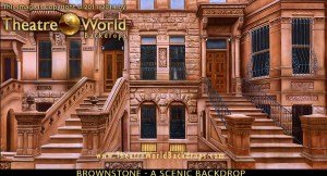 Brownstone Exterior Professional Scenic Backdrop