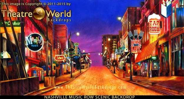 Nashville Music Row Professional Scenic Backdrop