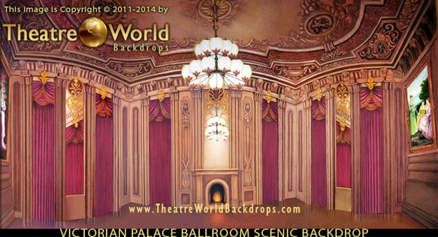 Victorian Palace Ballroom Professional Scenic Backdrop