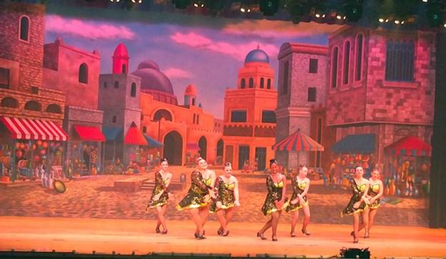 Professional Scenic Backdrop Agrabah Marketplace Charlene's School of Dance