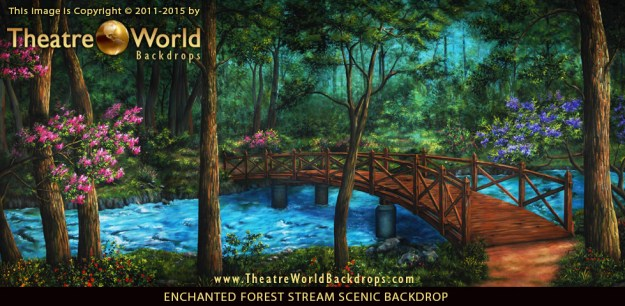 Enchanted Forest Stream Professional Scenic Backdrop