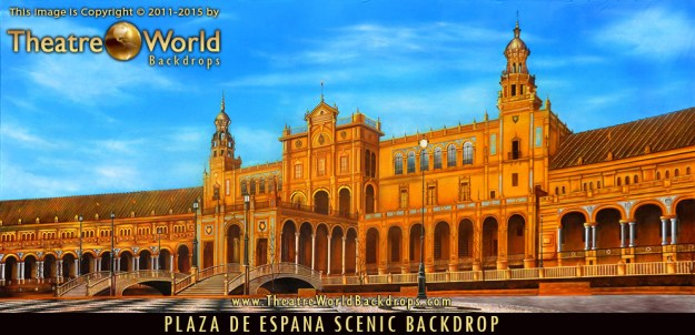 Professional Plaza de Espana Scenic Backdrop