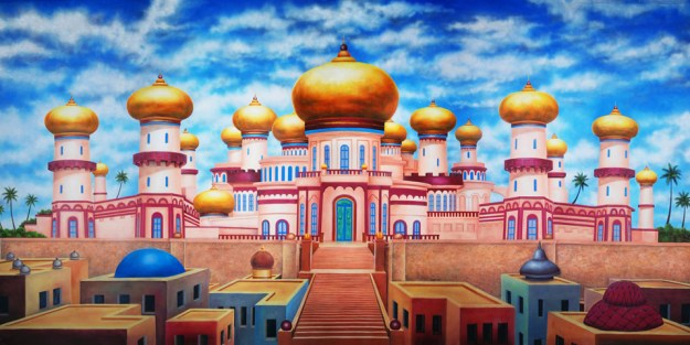 Aladdin Agrabah Palace Exterior Professional Scenic Backdrop