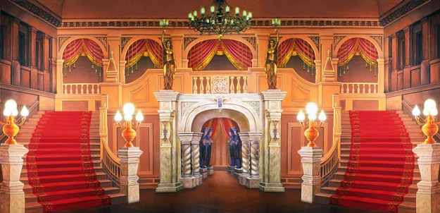 Professional Cinderella Majestic Mansion Foyer Scenic Backdrop