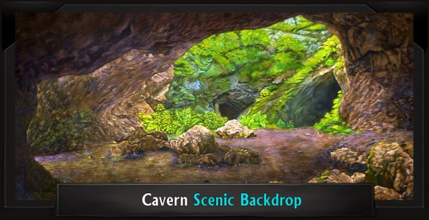 Spamalot Cavern Professional Scenic Backdrop