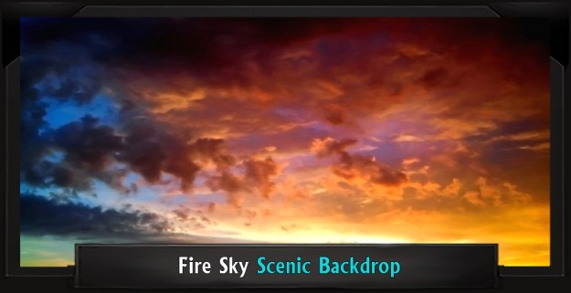 The Little Mermaid Fire Sky Professional Scenic Backdrop