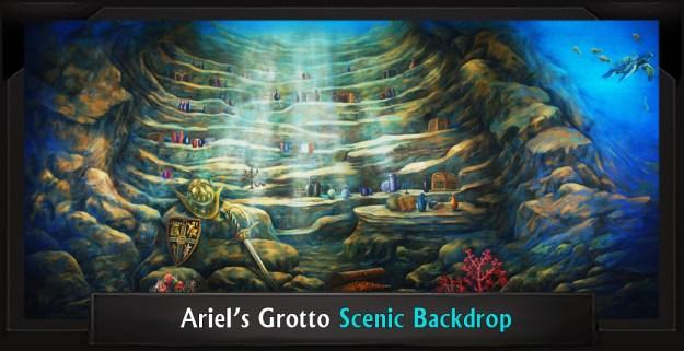Ariel's Grotto Professional Scenic Little Mermaid Backdrop