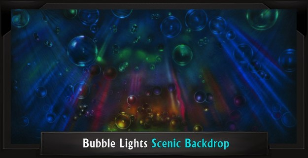 Bubble Lights Professional Scenic Little Mermaid Backdrop