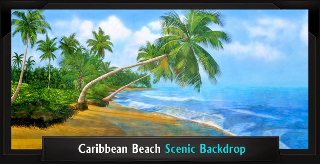Caribbean Beach Professional Scenic Little Mermaid Backdrop