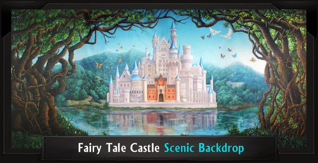 FAIRY TALE CASTLE Professional Scenic Shrek Backdrop