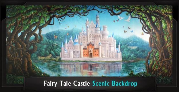 FAIRY TALE CASTLE Professional Scenic Shrek Backdrop