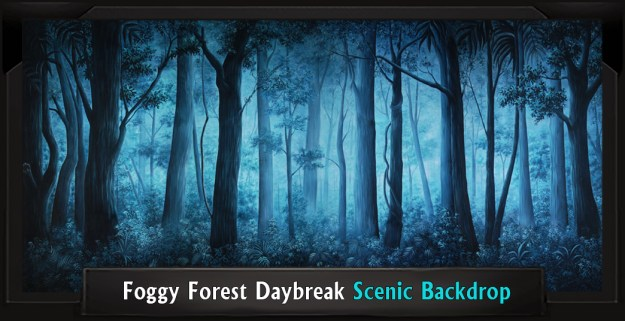 Shrek FOGGY FOREST DAYBREAK Professional Scenic Backdrop
