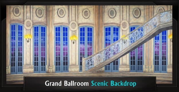 Grand Ballroom Professional Scenic Little Mermaid Backdrop