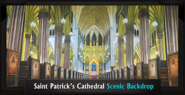SAINT PATRICK'S CATHEDRAL Professional Scenic Shrek Backdrop