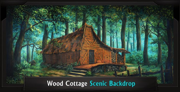 WOOD COTTAGE Professional Scenic Shrek Backdrop