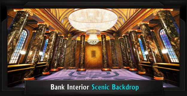 Bank Interior Professional Scenic Mary Poppins Backdrop