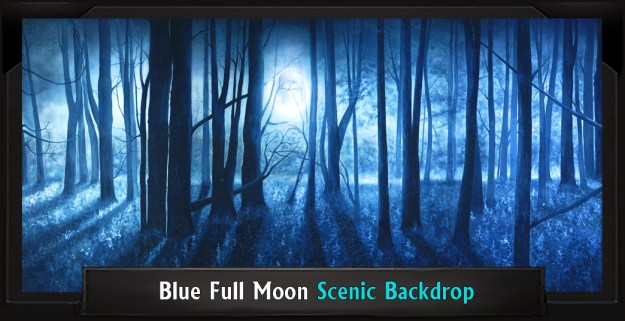 Blue Full Moon Professional Scenic Addams Family Backdrop