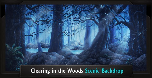 Clearing in the Woods Professional Scenic Addams Family Backdrop