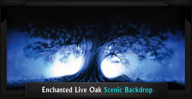 Enchanted Live Oak Professional Scenic Addams Family Backdrop
