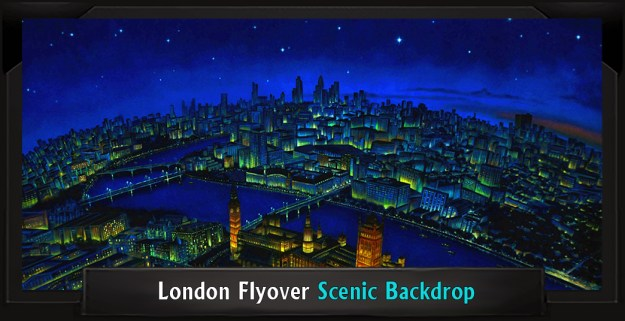 London Flyover Professional Scenic Mary Poppins Backdrop