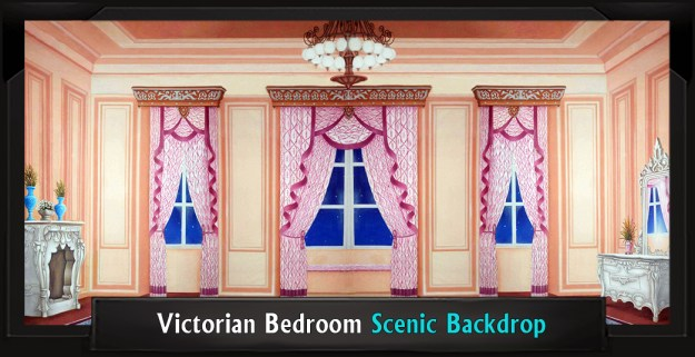 Victorian Bedroom Professional Scenic Mary Poppins Backdrop