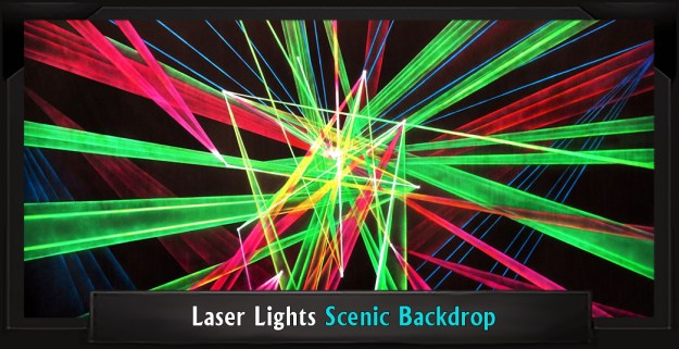 Laser Lights Professional Scenic School of Rock Backdrop