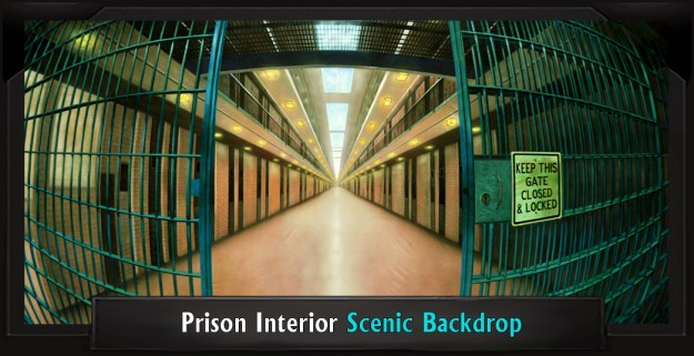 Legally Blonde PRISON INTERIOR Professional Scenic Backdrop