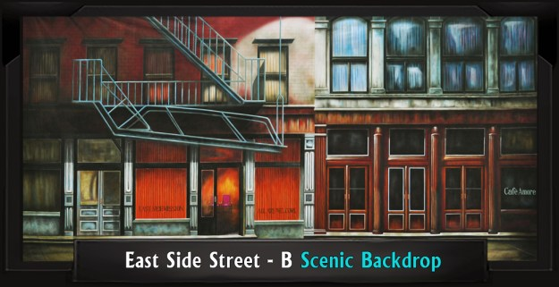 East Side Street - B Professional Scenic Rent Backdrop