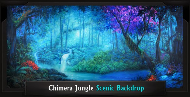 Chimera Jungle Professional Scenic SPAMALOT Backdrop