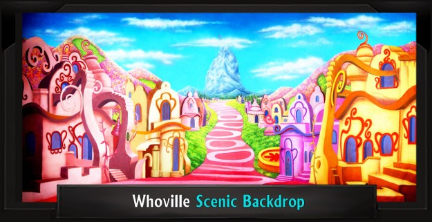 WHOVILLE Professional Scenic SEUSSICAL Backdrop