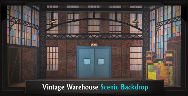 Vintage Warehouse Professional Scenic Thoroughly Modern Millie Backdrop