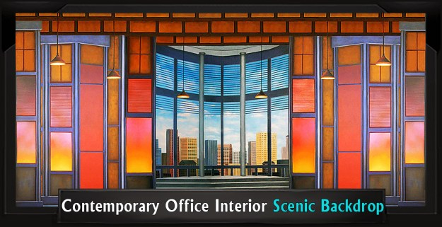 CONTEMPORARY OFFICE INTERIOR Professional Scenic Thoroughly Modern Millie Backdrop