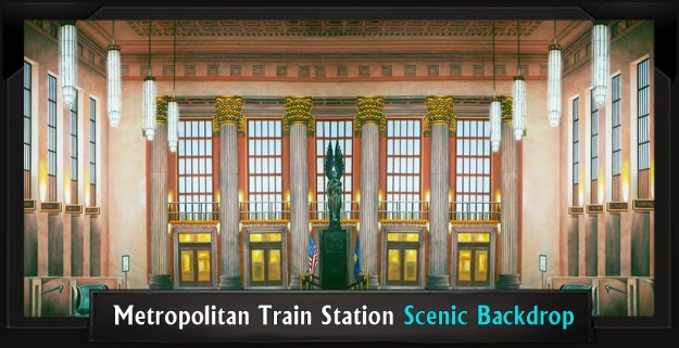 Metropolitan Train Station Professional Scenic Thoroughly Modern Millie Backdrop