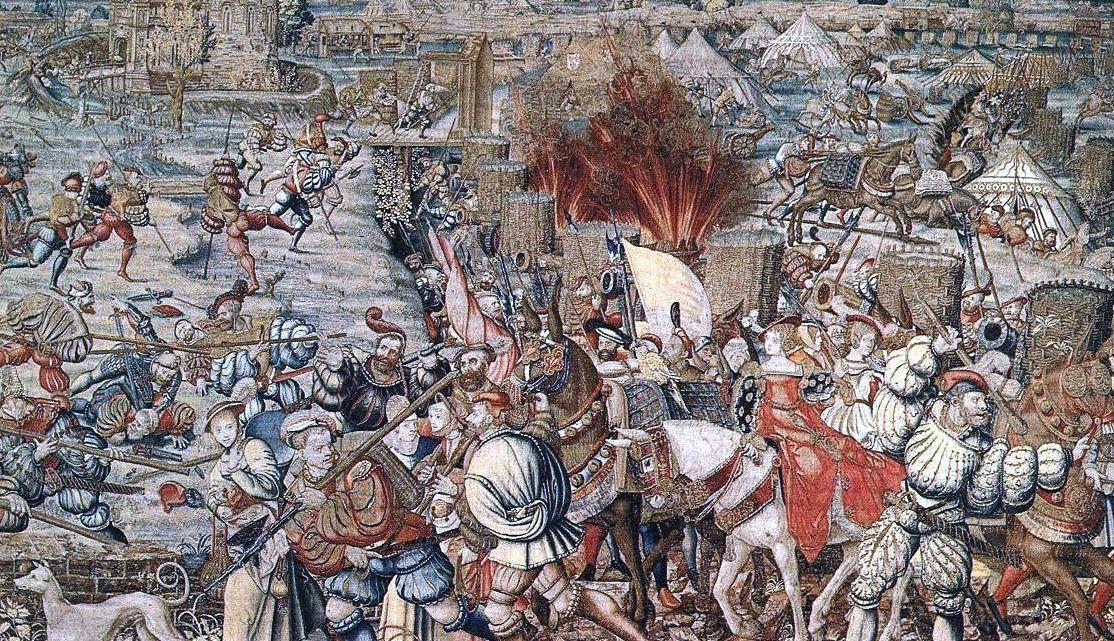 Tapisserie sur la bataille de Pavie par Bernard van Orley