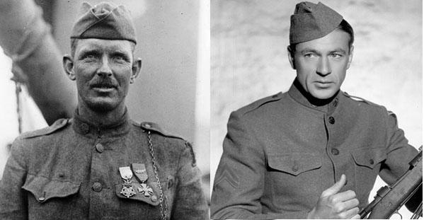 Caporal York (à gauche) et Gary Cooper.